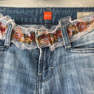 BOSS Hugo Boss jeans embroidered Size 27/34